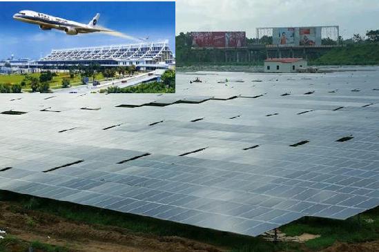 Питающая аэропорт новая солнечная электростанция