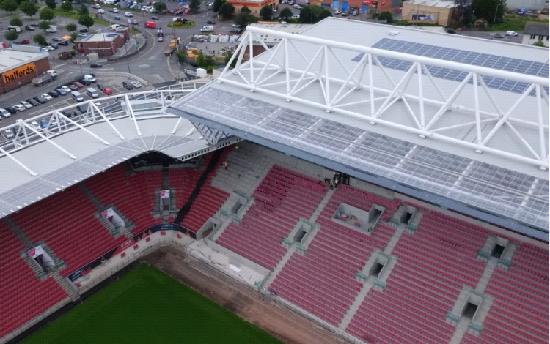 солнечная электростанция Стадион Ashton Gate