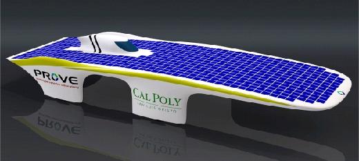 Энергией автомобиль снабжают монокристаллические солнечные панели
