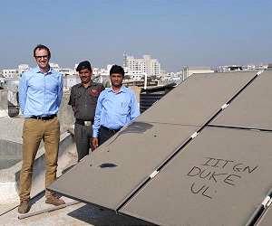 загрязнения на солнечных панелях