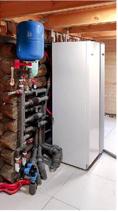 инверторный тепловой насос установленный в частном доме