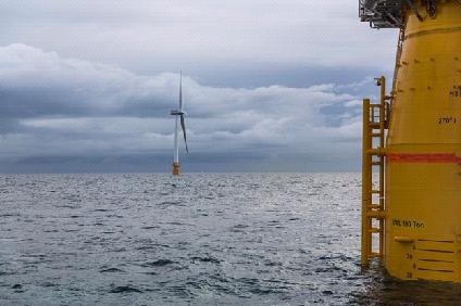 плавучая  ветряная электростанция Хайвинд