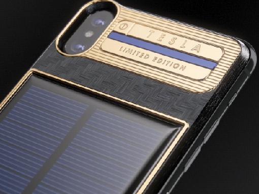 Первый телефон iPhone X Tesla с солнечной батареей