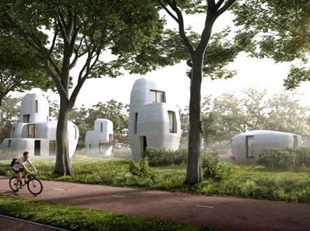 с помощью 3D-принтера будет построен жилой квартал из бетона