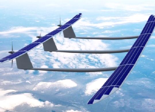 биплан-беспилотник на солнечных батареях