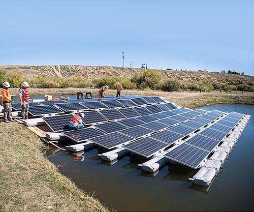 Плавающая солнечная станция
